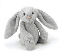 Jellycat knuffel Bashful Zilver Konijn Heel Erg Groot 67cm