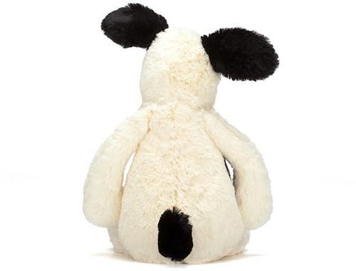 Jellycat Bashful Zwart & Room Kleurig Puppy Medium - 31cm-3