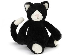 Jellycat  Bashful Black and White Kitten - 31cm