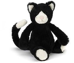 Jellycat  Bashful Black and White Kitten - 31cm