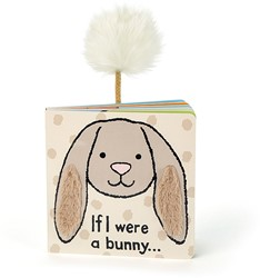 Jellycat If I were a Bunny Board Book (Beige) - 15cm