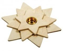 Beleduc  houten knutselspullen Kaarsenstandaard ster