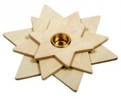Beleduc  houten knutselspullen Kaarsenstandaard ster-1