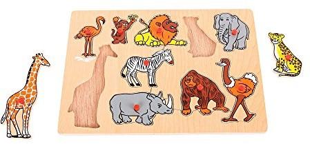 BigJigs Lift Out Puzzle - Jungle