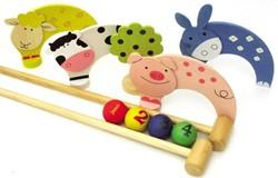 BigJigs  houten buitenspel Boerderij croquet set