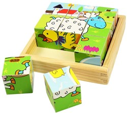BigJigs Animal Cube Puzzle