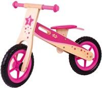 BigJigs houten loopfiets Roze