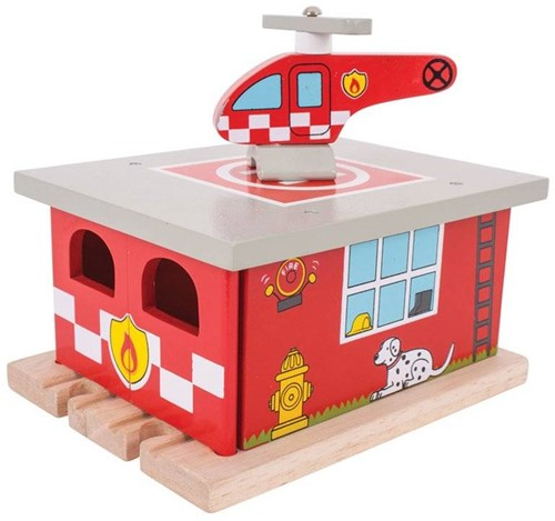 BigJigs Fire Station Shed-1