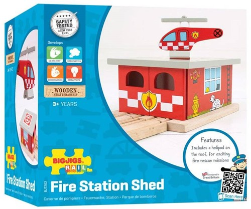 BigJigs Fire Station Shed-2