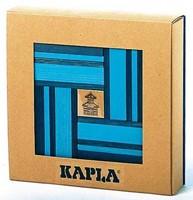 Kapla  houten bouwplankjes 40 Plankjes licht/ donkerblauw-2