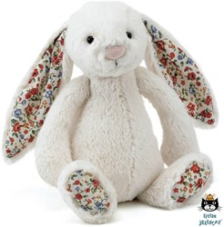 Jellycat  Bashful Blossom Bunny Cream Small - 18 cm