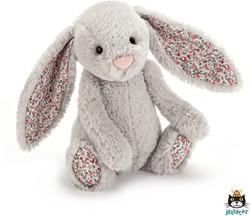 Jellycat Blossom Silver Bunny Small - 18cm