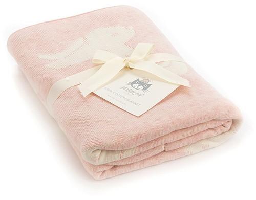 Jellycat Bashful Roze Konijn Deken