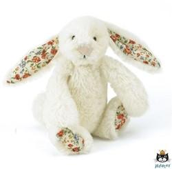 Jellycat  Bashful Blossom Bunny Cream Baby - 13cm