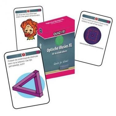 Schoolsupport leerkaarten Quiz it! Optische illusies XL