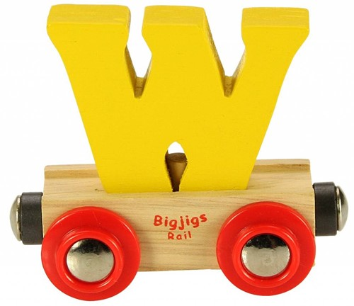 BigJigs Rail Name Letter W, BIGJIGS, LETTERTREIN W
