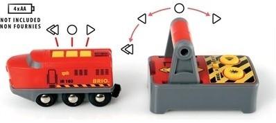 BRIO trein Rode RC locomotief met afstandsbediening 33213-2