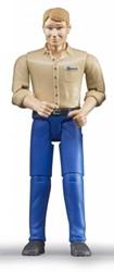 Bruder  - Man met blanke huidskleur - lichtblauwe jeans