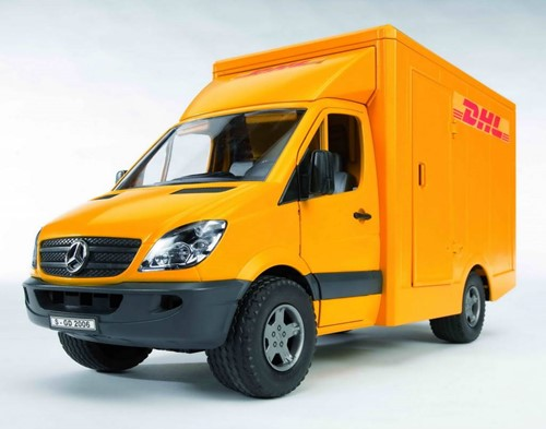 Bruder MB sprinter DHL + handpallettruck - 2534