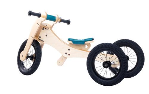 Trybike houten loopfiets 4-in-1 Blauw-2