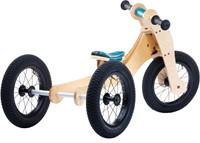 Trybike houten loopfiets 4-in-1 Blauw-3