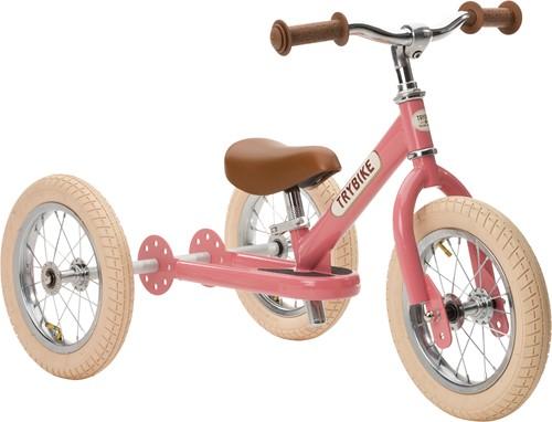 Trybike loopfiets 2-in-1 staal - Vintage roze