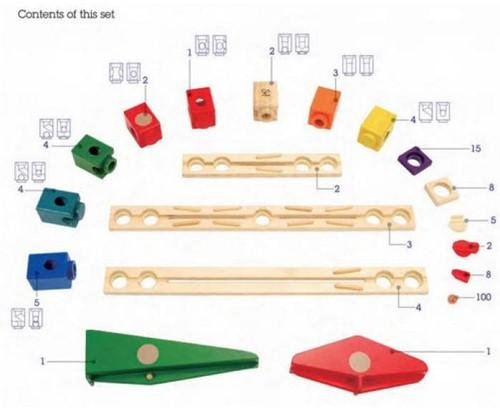 Hape Quadrilla houten knikkerbaan set Autobahn