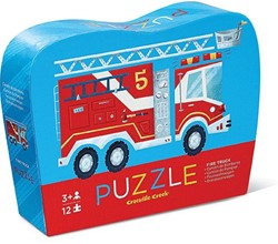 Crocodile Creek  legpuzzel Mini Shaped Puzzle/Fire Truck - 12 stukjes