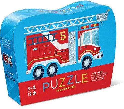 Crocodile Creek 12 pc Mini Puzzle - Fire Truck