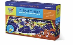 Crocodile Creek  legpuzzel Discover Puzzle/World - 100 stukjes