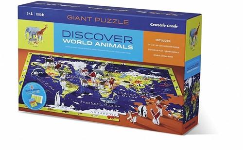 Crocodile Creek Discover Puzzle - World