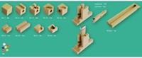 Cuboro  houten knikkerbaan set Cugolino hit - 87-3