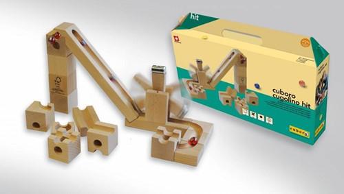 Cuboro  houten knikkerbaan set Cugolino hit - 87-2