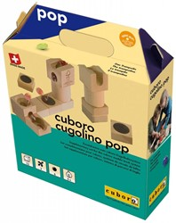 Cuboro  houten knikkerbaan set Cuboro cugolino pop - 85