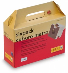 Cuboro  houten knikkerbaan set Sixpack cuboro metro - 142