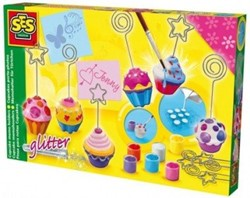 knutselspullen Cupcake memohouders gips