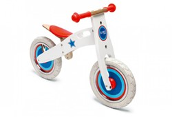 Scratch  houten loopfiets Balance Bike large Wit Ster