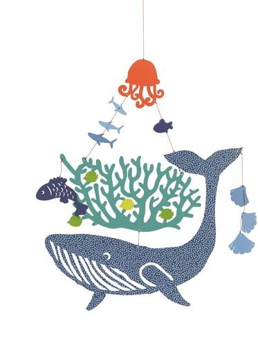 Djeco babymobiel Whale under water