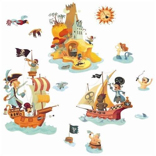 Djeco  muurdecoratie Muursticker Piraat-2