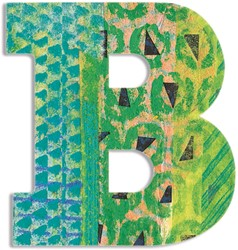 Djeco houten letter B - Peacock