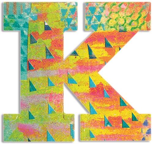Djeco houten letter K - Peacock
