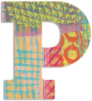 Djeco houten letter P - Peacock