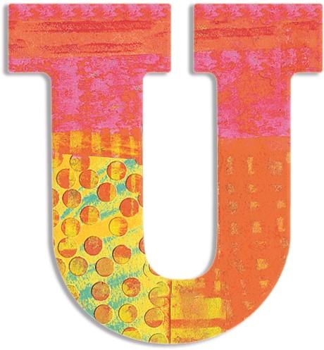 Djeco houten letter U - Peacock
