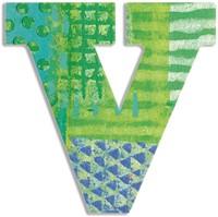 Djeco houten letter V - Peacock