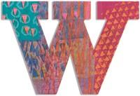 Djeco houten letter W - Peacock