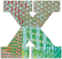 Djeco houten letter X - Peacock