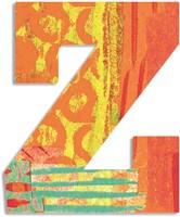 Djeco houten letter Z - Peacock