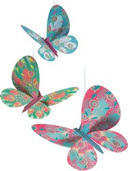 Djeco hang decoratie Glitter butterflies
