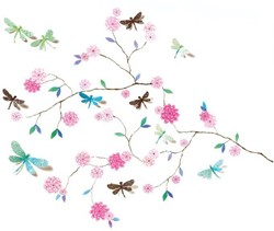 Djeco muursticker Dragonflies tree
