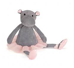 Jellycat knuffel Dancing Darcey Hippo Small -23cm